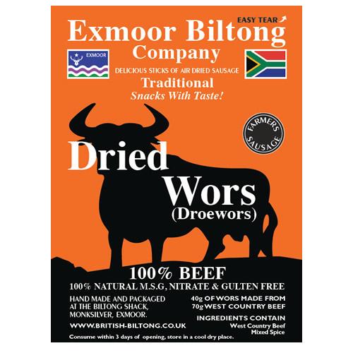 Dried Wors (Droëwors)