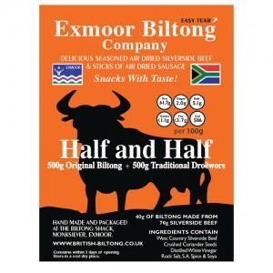 Half and Half (500g of original Biltong, 500g of Droewors)