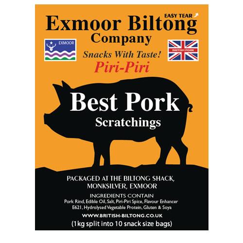 Piri Piri Pork Scratchings (spicy pork scratchings)